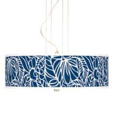 Jungle Rain Giclee 3-Light Pendant Chandelier