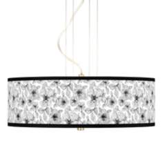 "Stacy Garcia Linear Floral 20"" Wide Pendant Chandelier"