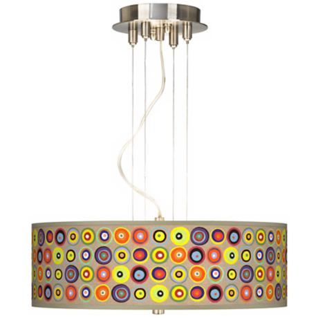"Marbles in the Park 20"" Wide Three Light Pendant Chandelier"