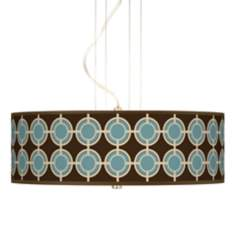 Stacy Garcia Porthole Giclee 3-Light Pendant Chandelier