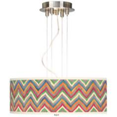 "Canyon Waves 20"" Wide 3-Light Pendant Chandelier"