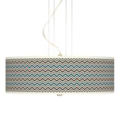 "Zig Zag Giclee 20"" Wide 3-Light Pendant Chandelier"