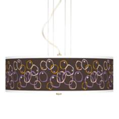 "Linger Giclee 20"" Wide 3-Light Pendant Chandelier"