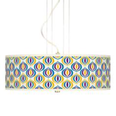 "Scatter Giclee 20"" Wide 3-Light Pendant Chandelier"