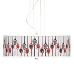 "Shutter Giclee 20"" Wide 3-Light Pendant Chandelier"