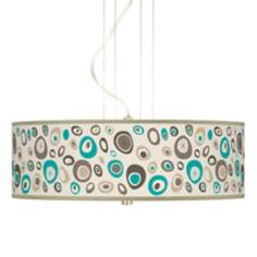 "Stammer Giclee 20"" Wide 3-Light Pendant Chandelier"
