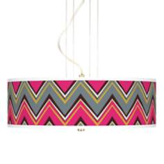 "Stacy Garcia Chevron Pride Pink 20""W 3-Light Pendant Light"
