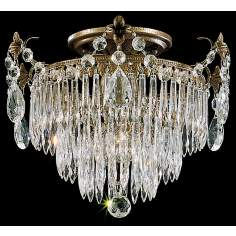 "Schonbek Rhone Collection 12"" Wide Ceiling Light"
