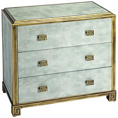 Butler Artemis Blue Distressed Wood 3-Drawer Console Chest