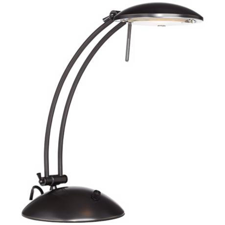 Swoop Arch Design Dark Bronze Halogen Desk Lamp
