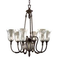 Uttermost Galeana Collection Six Light Chandelier