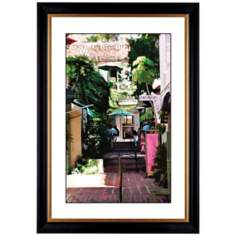 "Giclee Sidewalk Cafe 41 3/8"" High Wall Art"