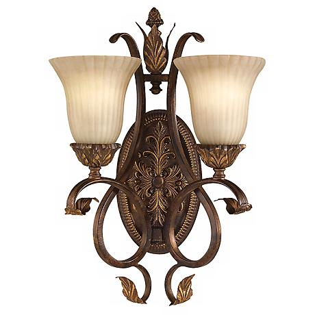 "Feiss Sonoma Valley 20"" High Two Light Wall Sconce"
