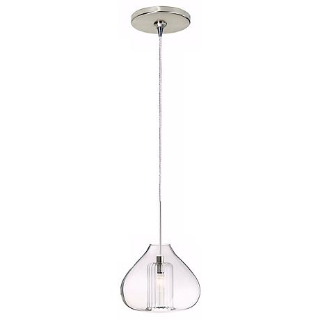 Cheer Single Globe Satin Nickel Mini Pendant