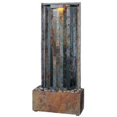 Natural Slate Vertical Flow Indoor Tabletop Fountain