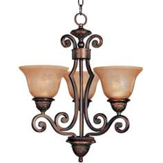 Symphony Collection Three Light Bronze Chandelier