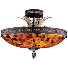 "Metropolitan Salamanca 23 1/2"" Wide Semiflush Ceiling Light"