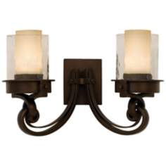 "Newport Collection Bronze 18 1/2"" Wide Bathroom Fixture"