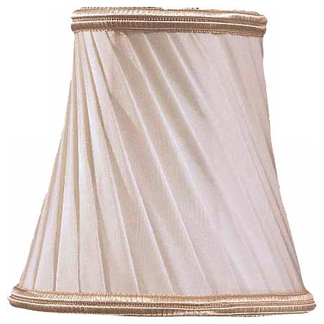 Eggshell Silk Pleated Lamp Shade 3x5x5 (Clip-On)