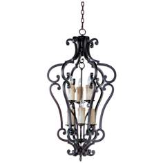 Empress Colonial Umber Finish 6-Light Pendant Chandelier