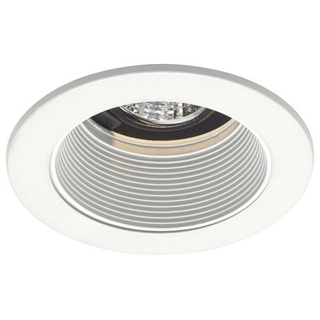 "Juno 4"" Low Voltage White Baffle Recessed Light Trim"