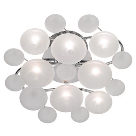 "Possini Euro Lilypad Etched Glass 17 3/4"" Wide Ceiling Light"