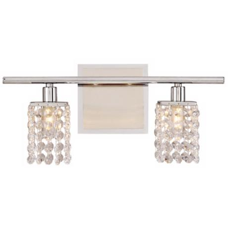 "Sparkle Collection 15 1/4"" Wide Bathroom Light Fixture"