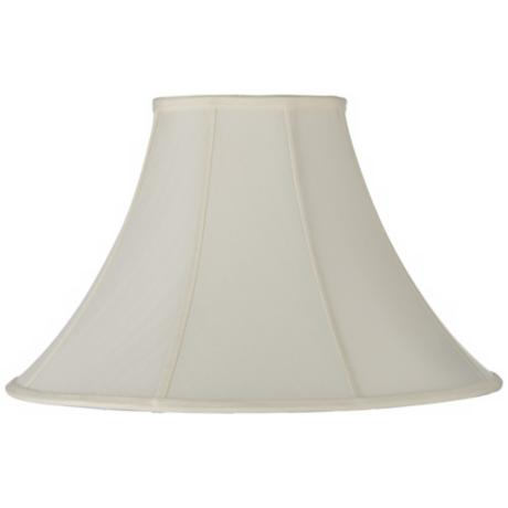 Cream Shantung Lamp Shade 7x18x12 (Spider)