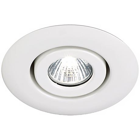 "Juno 4"" Low Voltage White Gimbal Recessed Light Trim"