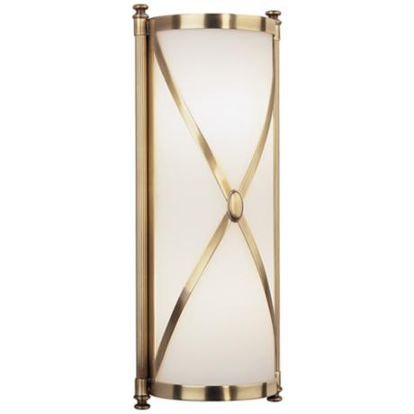 "Robert Abbey Drexel 16 3/8"" High Brass ADA Wall Sconce"