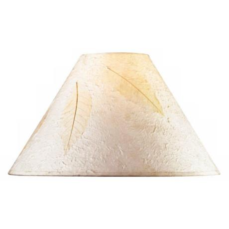 Leaf Impression Empire Rice Paper Shade 5x16x10.5 (Spider)