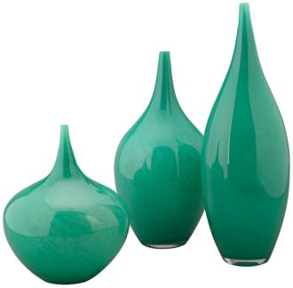 Jamie Young Nymph Emerald Green 3-Piece Glass Vase Set (19H18) 19H18