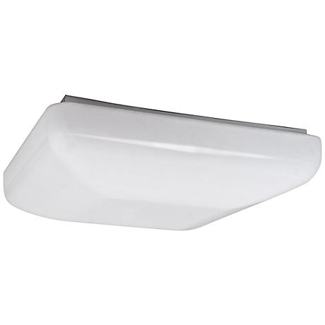 "Quadratum Flushmount 14 1/2"" Wide White LED Ceiling Light"