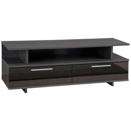 Reflekt 2-Drawer Oak Grey TV Stand