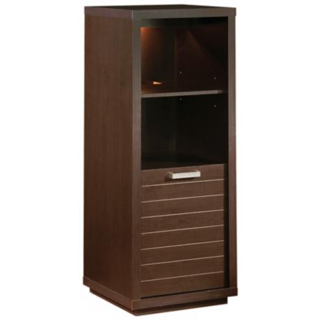 Skyline 1-Drawer Chocolate Shelving Unit