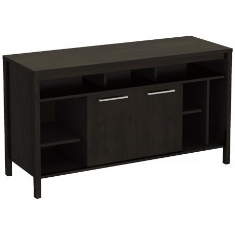 Spirit 2-Door Ebony TV Stand
