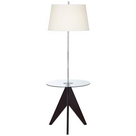 Rocket Mid-Century Tripod Tray Table Floor Lamp