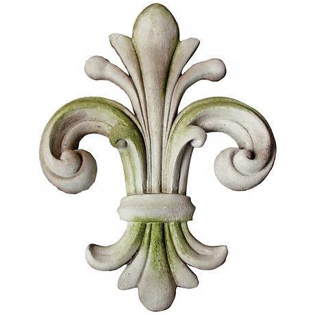 "Orazio Fleur-de-Lis 18"" High Sculpted Outdoor Wall Finial"