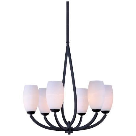 "Maxim Elan 26 1/4"" Wide 6-Light Textured Ebony Chandelier"