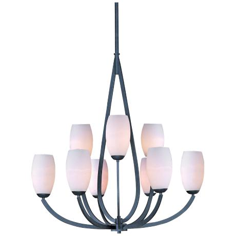 "Maxim Elan 34 1/2"" Wide 9-Light Textured Ebony Chandelier"
