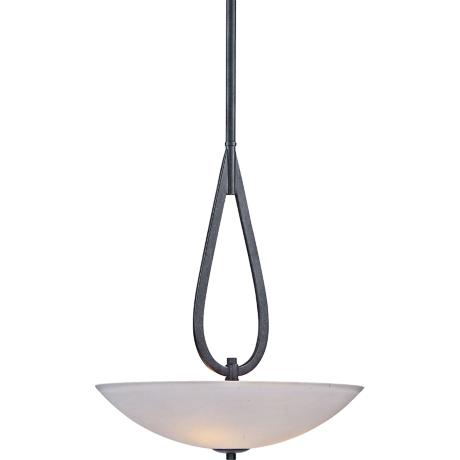 "Maxim Elan 20"" Wide Invert Bowl Textured Ebony Pendant Light"