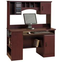 Morgan Cherry Storage Computer Desk