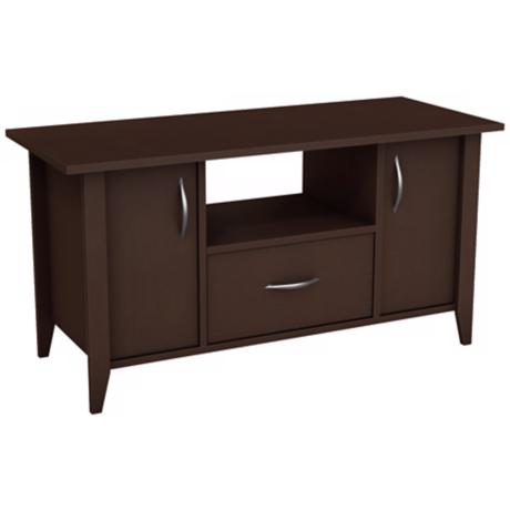 Adrian 2-Door 1-Drawer Matte Brown TV Stand