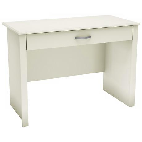 Word ID Sliding Shelf Pure White Desk