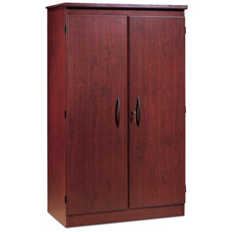 Morgan 2-Door Locking Royal Cherry Storage Cabinet