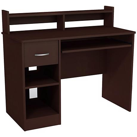 Axess 1-Drawer Chocolate Desk