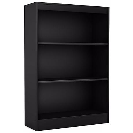 Axess 3-Shelf Pure Black Bookcase