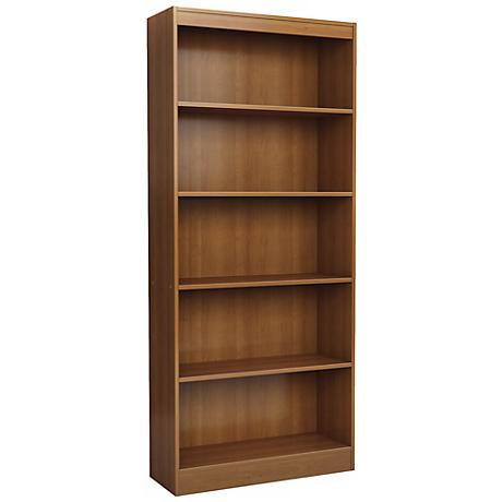 Axess 5-Shelf Morgan Cherry Bookcase
