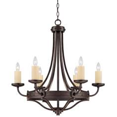 "Elba 6-Light 28 1/2"" Wide Oiled Copper Chandelier"