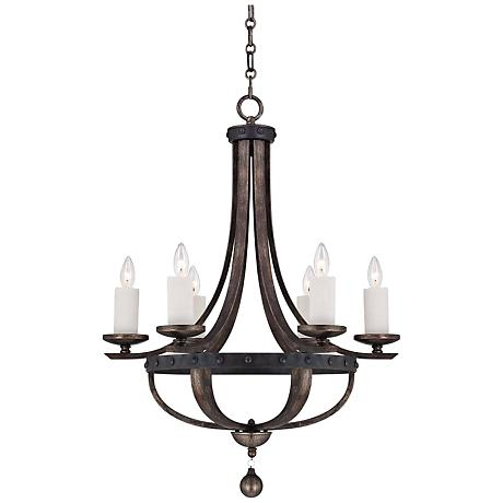 Savoy House Alsace 6-Light Wood Finish Chandelier